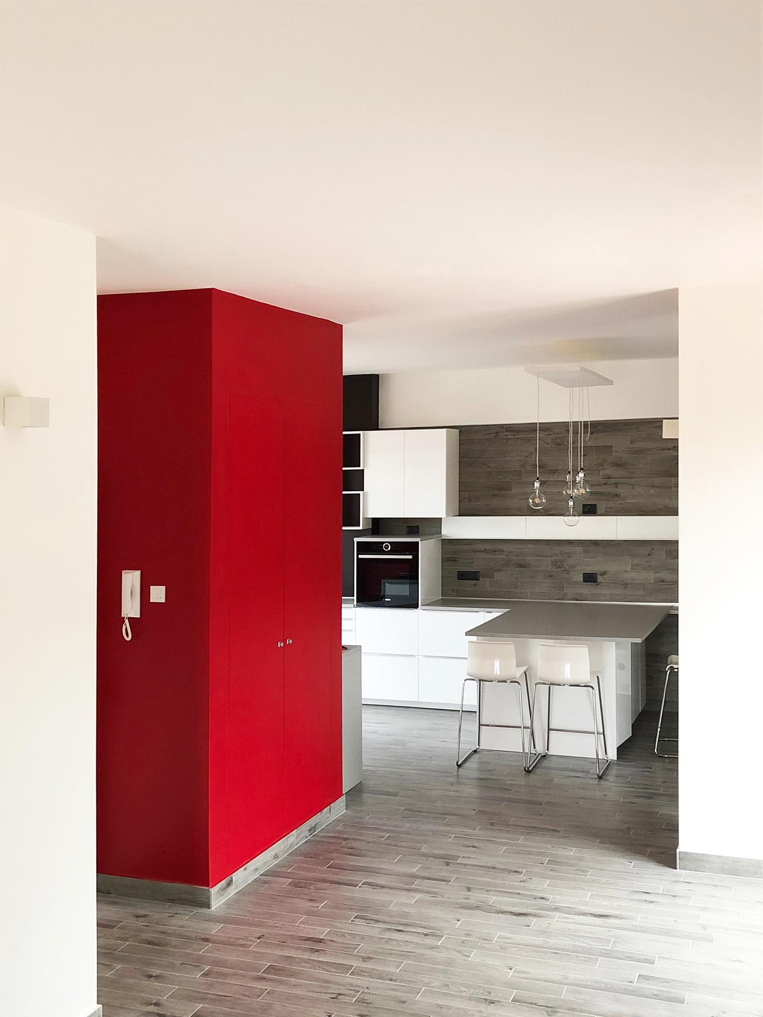 La cucina vista dal soggiorno Gabriele Filippi Architetto