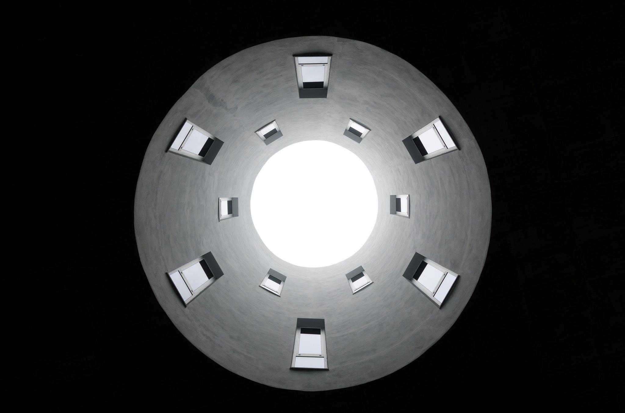 vista del pozzo di luce