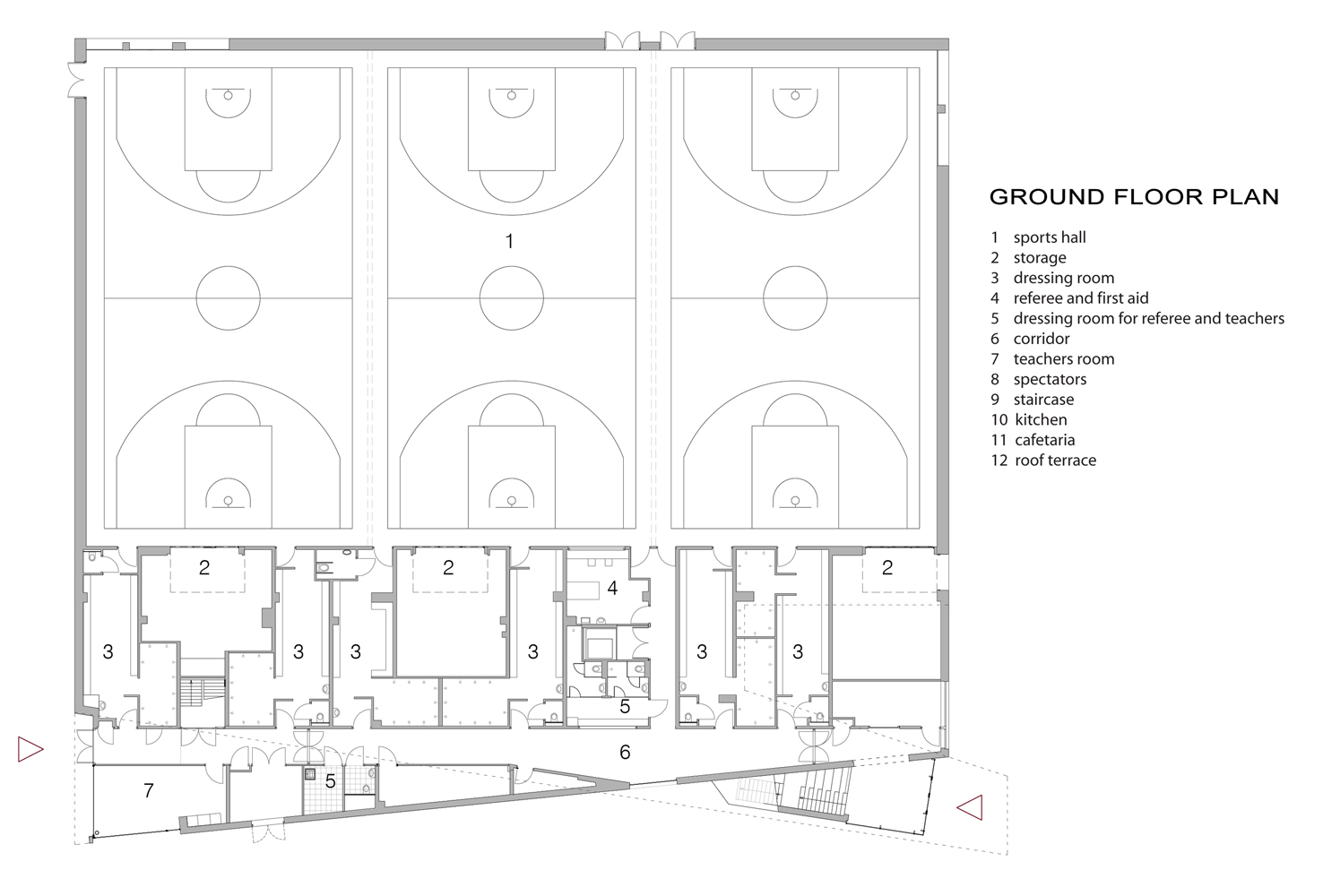 Floor plan ground floor }