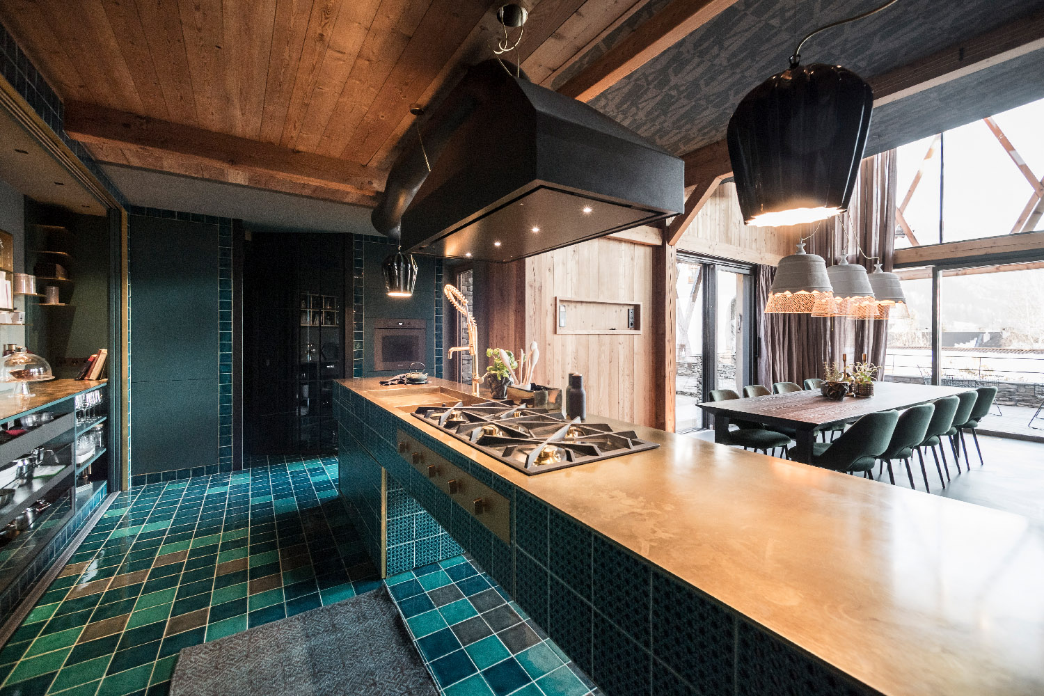 The Messner kitchen with it's iconic central piece Alex Filz