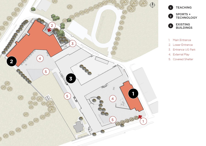 Site Plan Coady Architects / ELD Partnership}