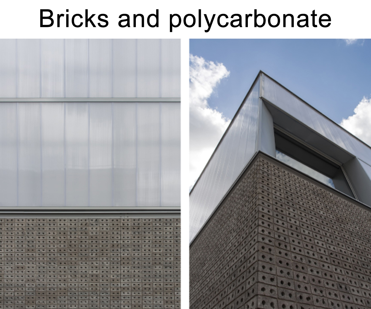 Bricks and Polycarbonate  }