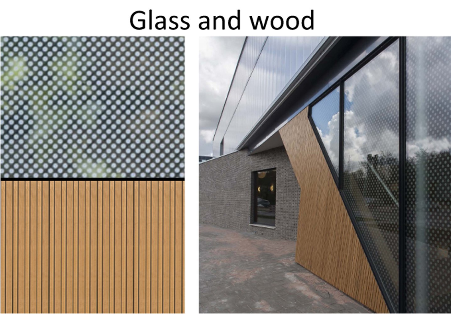 Glass and wood }