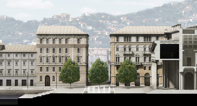 Dettaglio prospettico della nuova piazza