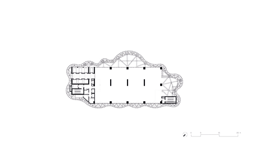 Maslak No.1 Tower - Typical Upper Floor Plan }
