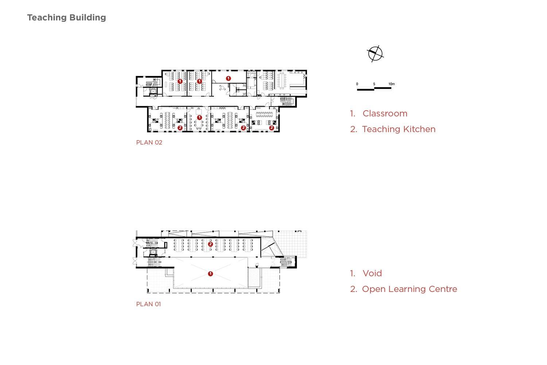 Teaching block Plan 01 and 02 Coady Architects / ELD Partnership}