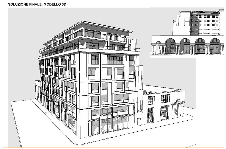 06 - progetto - modello 3D della soluzione finale  studio B+M Associati}