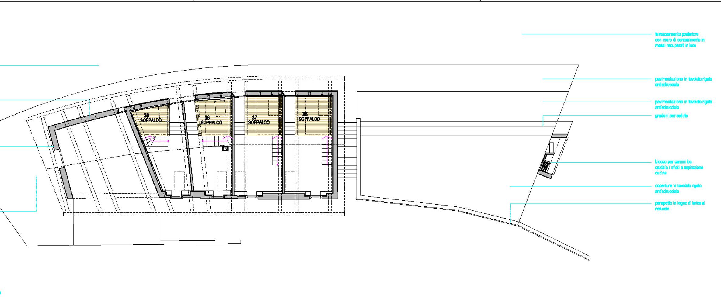 Plan of mezzanine }