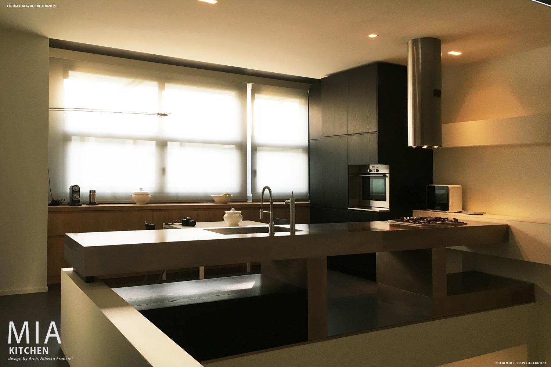l'ambiente cucina visto dal primo piano Alberto Francini