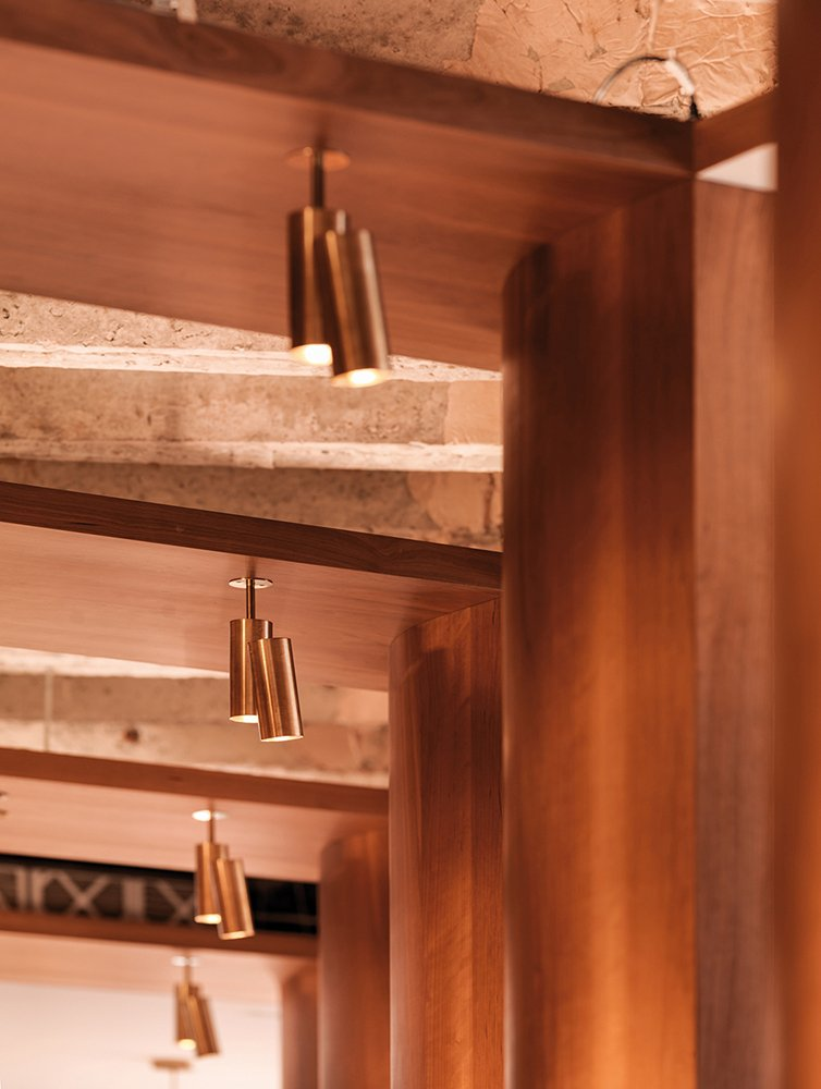 Lighting and joinery detail }