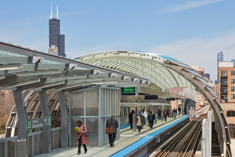 Cermak - McCormick CTA Station in Chicago