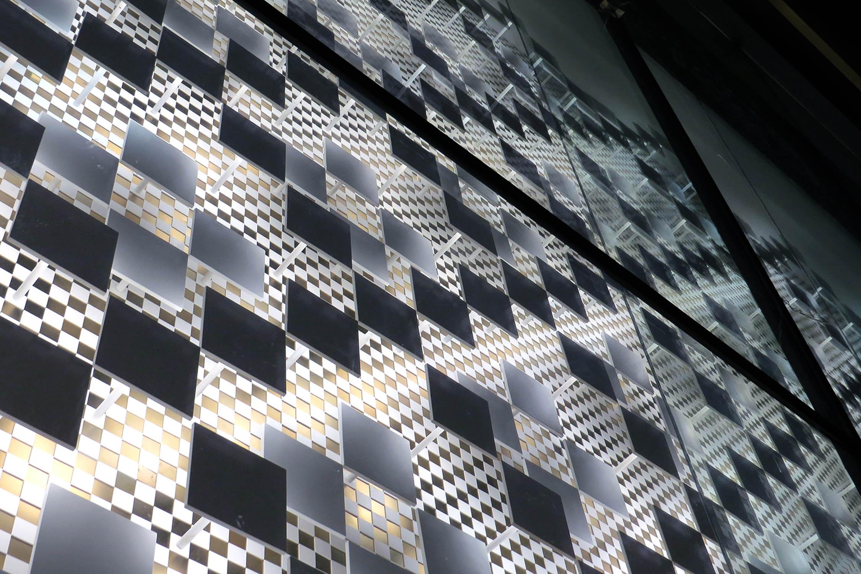 Facade detail - Texture Cristofori Santi Architetti
