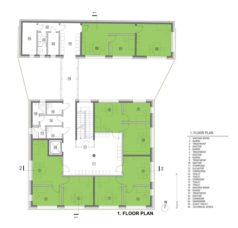 First floor plan Rechner Architects}