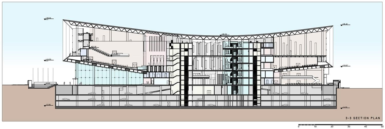 Section 1-1 Plan Adnan Kazmaoğlu Mimarlık Araştırma Merkezi}