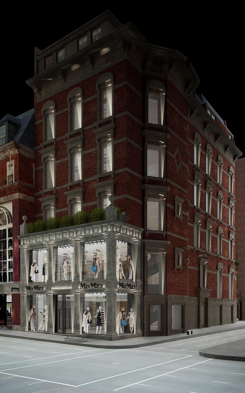 Facade night render view Duccio Grassi Architects}