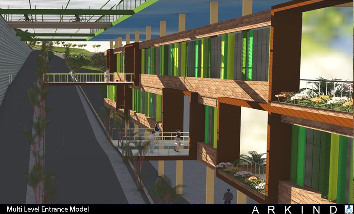 Model-Multi Level Entrance