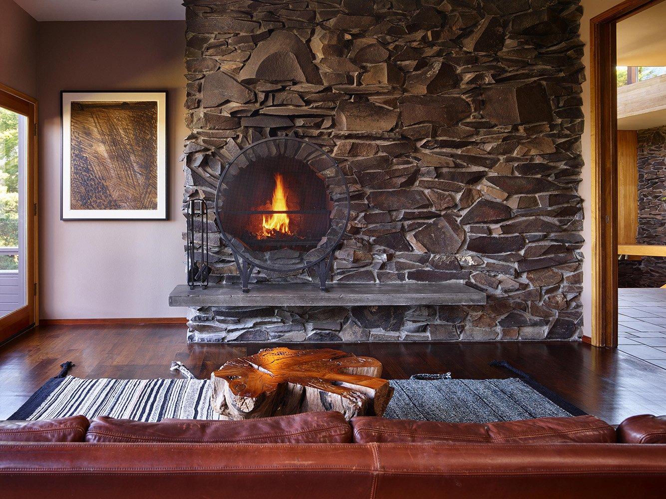 Master Bedroom Fireplace  }