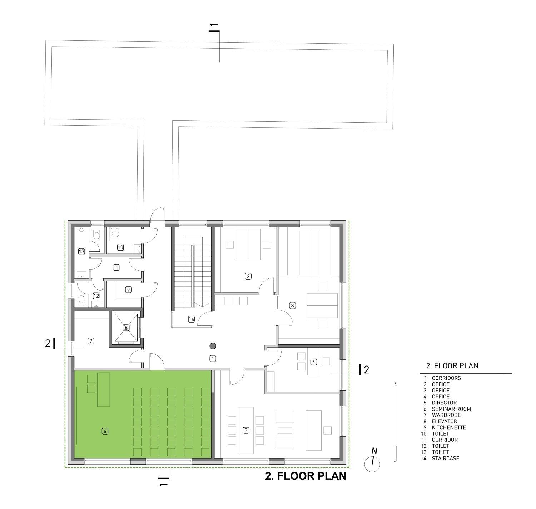 Second floor plan Rechner Architects}