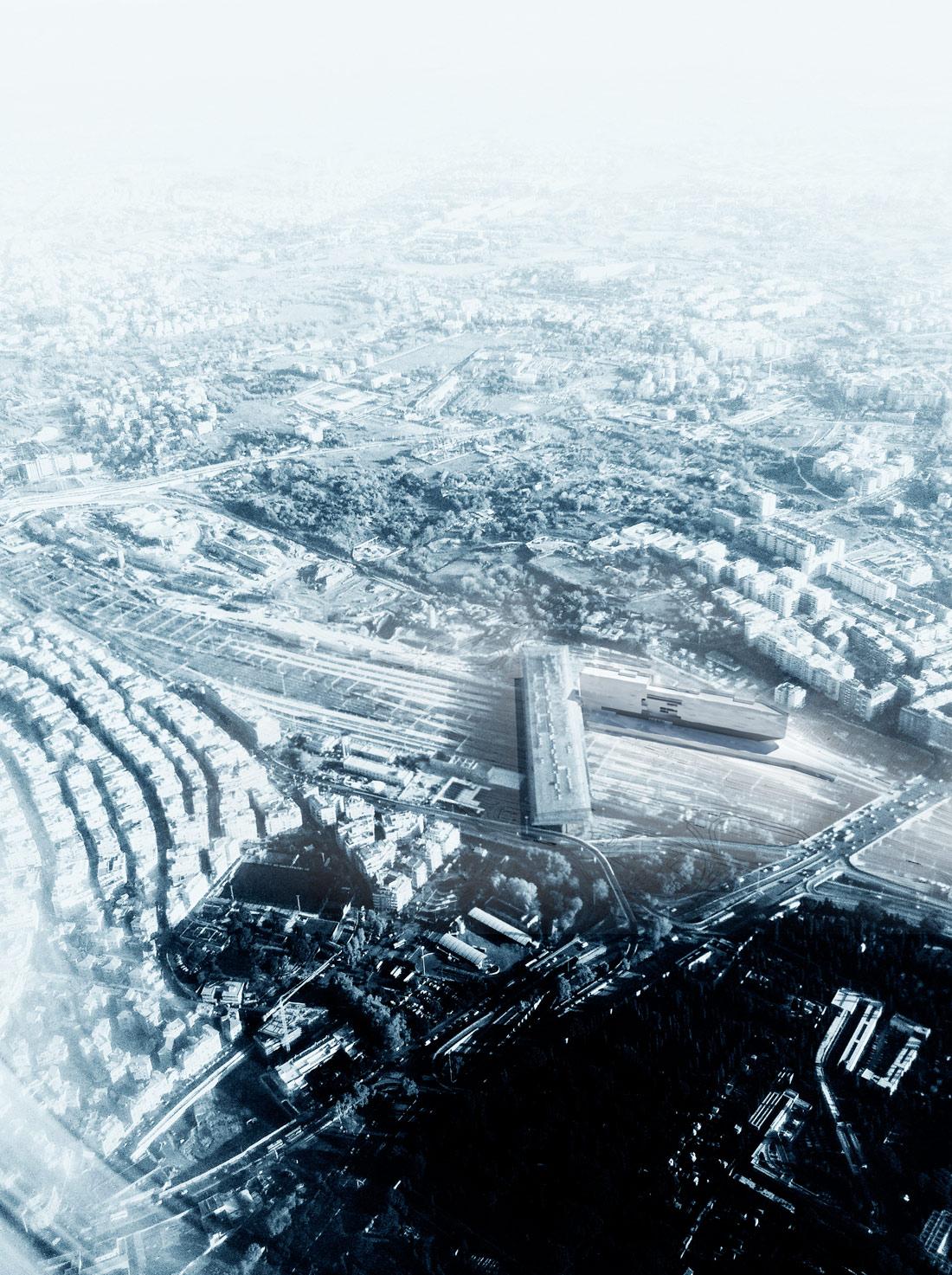 The project and the Tiburtina railway station }