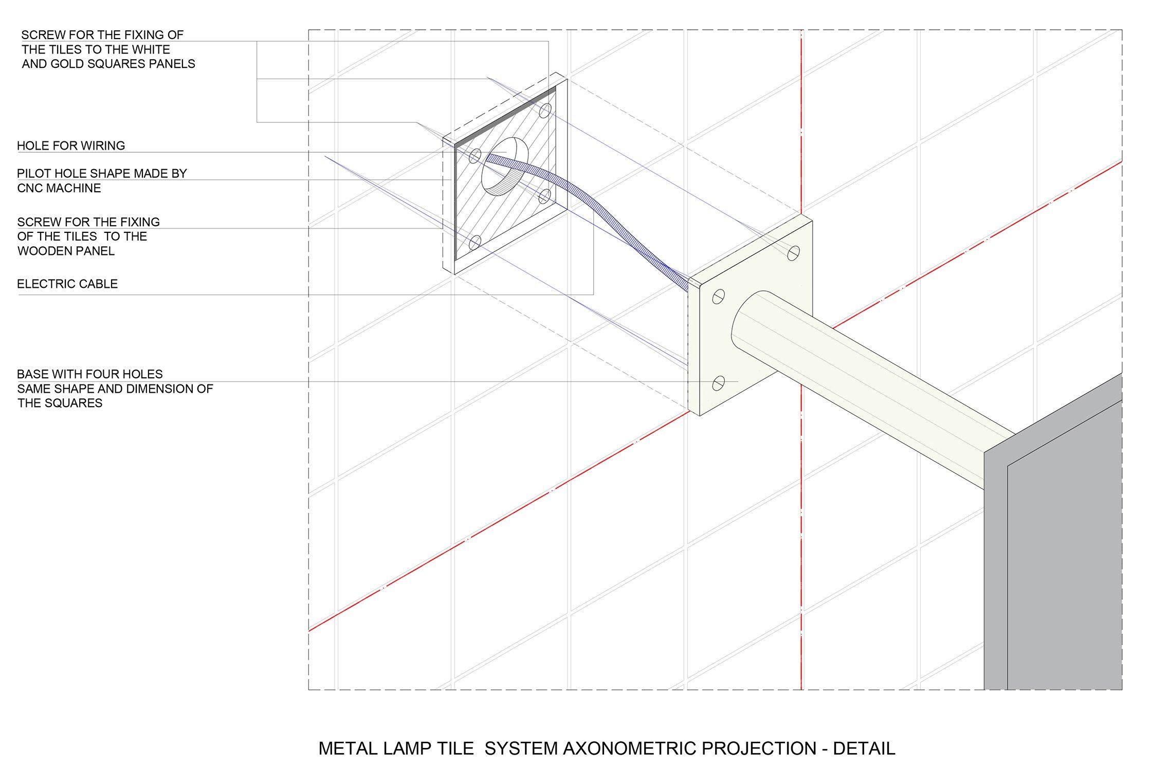 Metal lamp system Cristofori Santi Architetti}