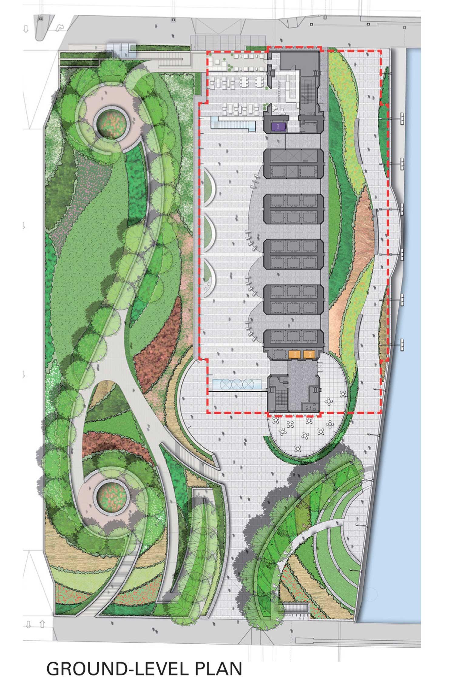 Ground Level Plan Goettsch Partners}