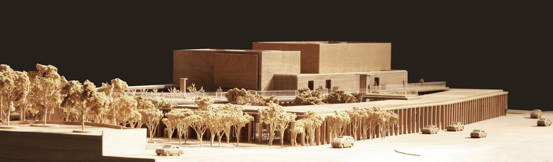 BerKM Bergama Cultural Center - Architectural Model }