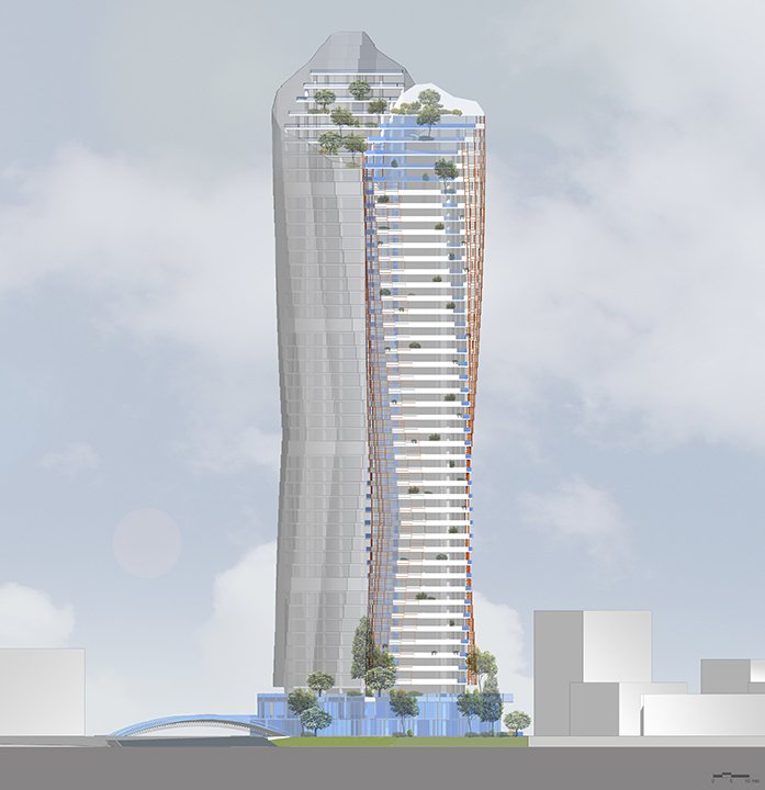 MISTRAL  & MIRAY MIXED USE COMPLEX - West section }