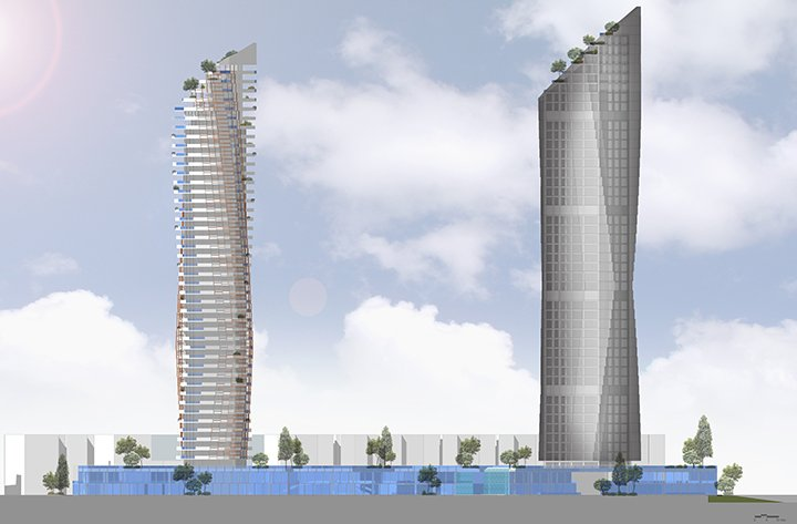MISTRAL  & MIRAY MIXED USE COMPLEX - South Elevation }