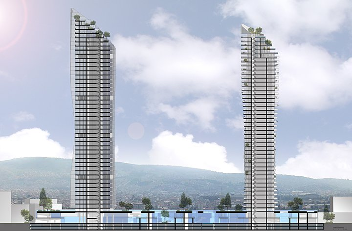 MISTRAL  & MIRAY MIXED USE COMPLEX - Section }