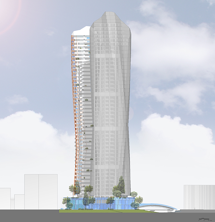 MISTRAL  & MIRAY MIXED USE COMPLEX - East section }