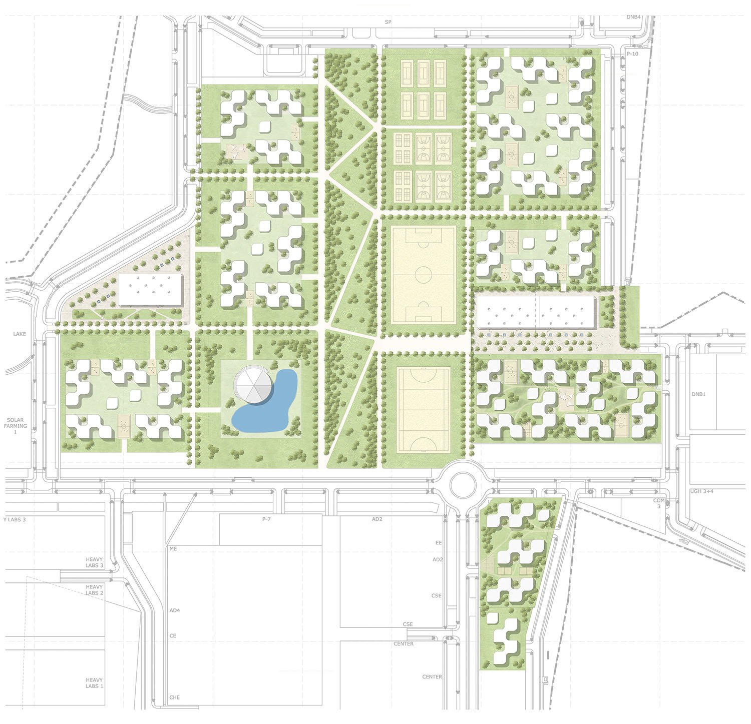 Future development housing  gmp von Gerkan, Marg and Partners Architects}
