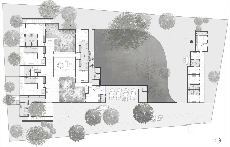 Ground floor plan }