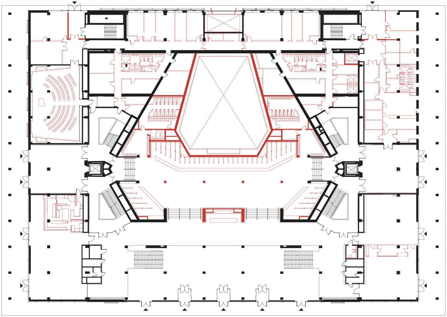 Floor plan level 0 gmp von Gerkan, Marg and Partners Architects}
