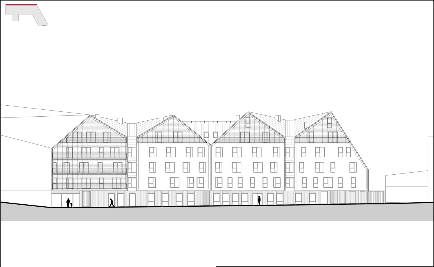 Nord West Elevation © Groupe-6}