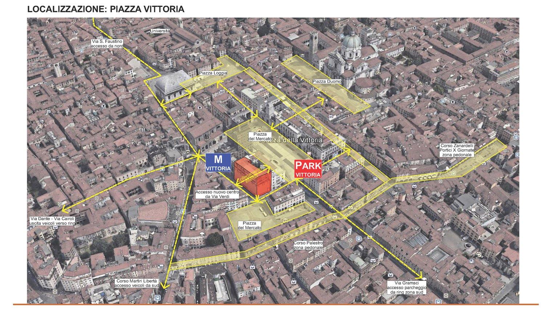 01 - localizzazione intervento - inquadramento nel centro storico di Brescia studio B+M Associati}