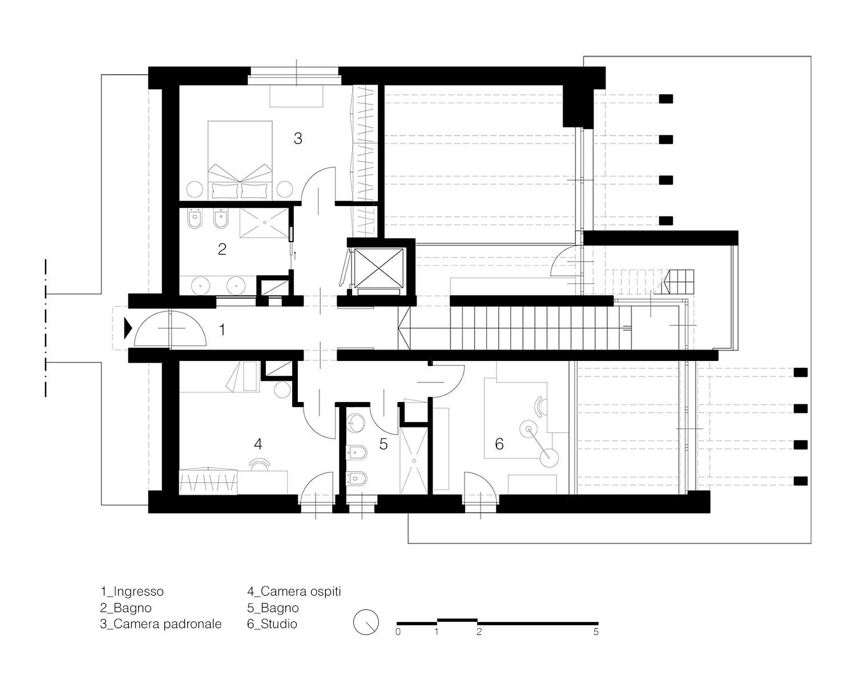 Pianta primo piano Labdia - Laboratorio di architettura}
