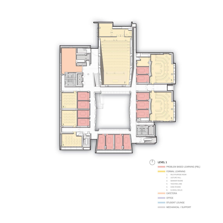 Level 1 Floor Plan © Skidmore, Owings & Merrill}