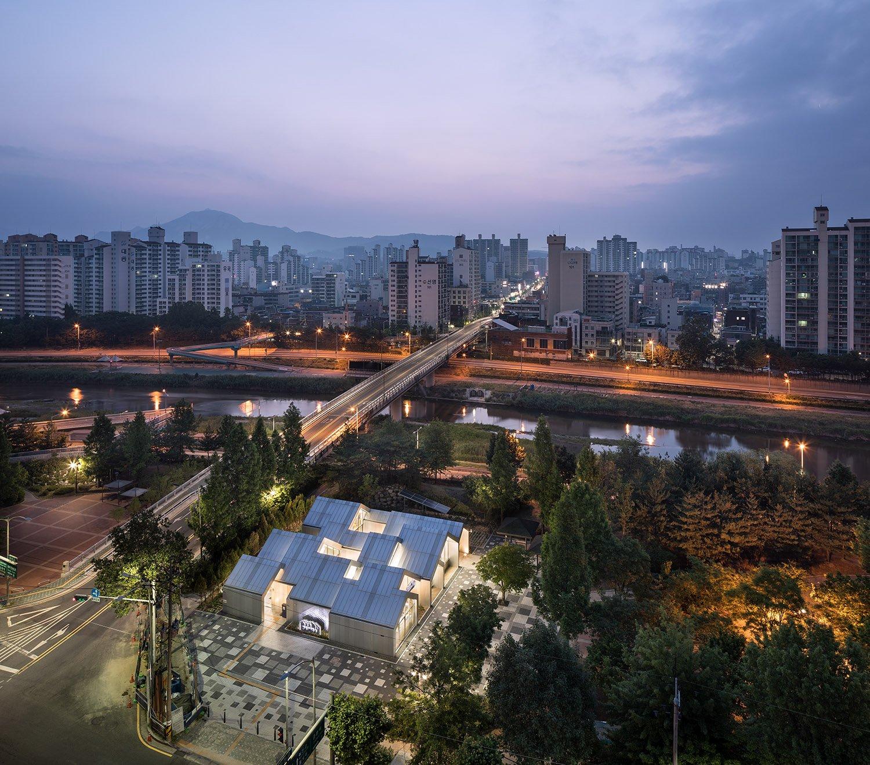 Main aerial view - night Joonhwan Yoon