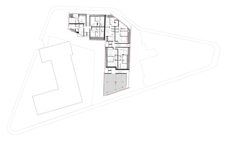 piano terzo e quarto-appartamenti standard ed uffici }