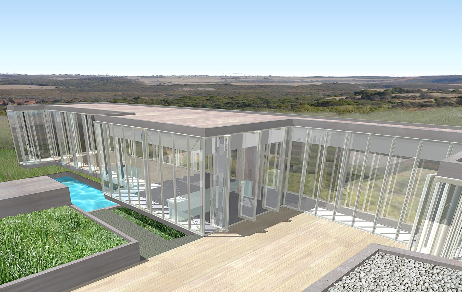 Exterior View Rendering: Lawrence Kim