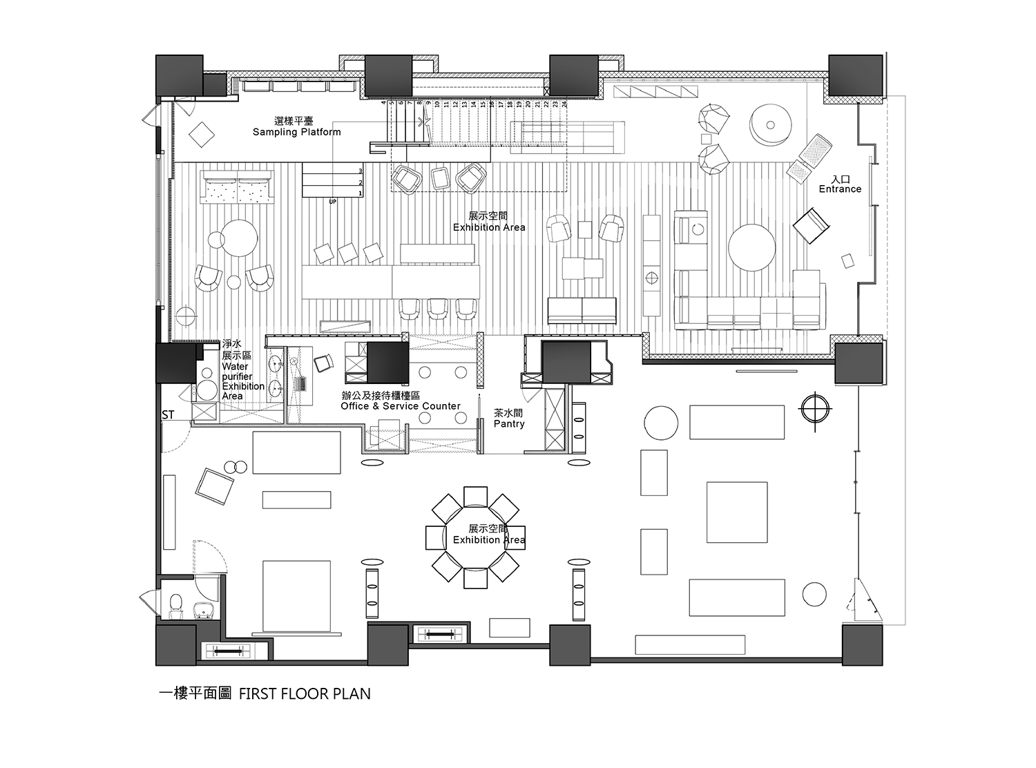 Raytext 1F Plan Chain10 Architecture & Interior Design Institute}