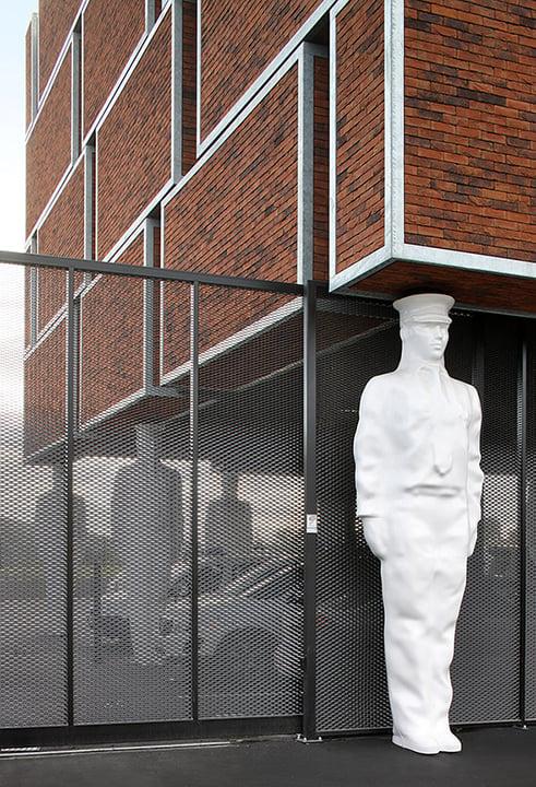 Megabricks, Atlantes statue, and Security gate detail Filip Dujardin