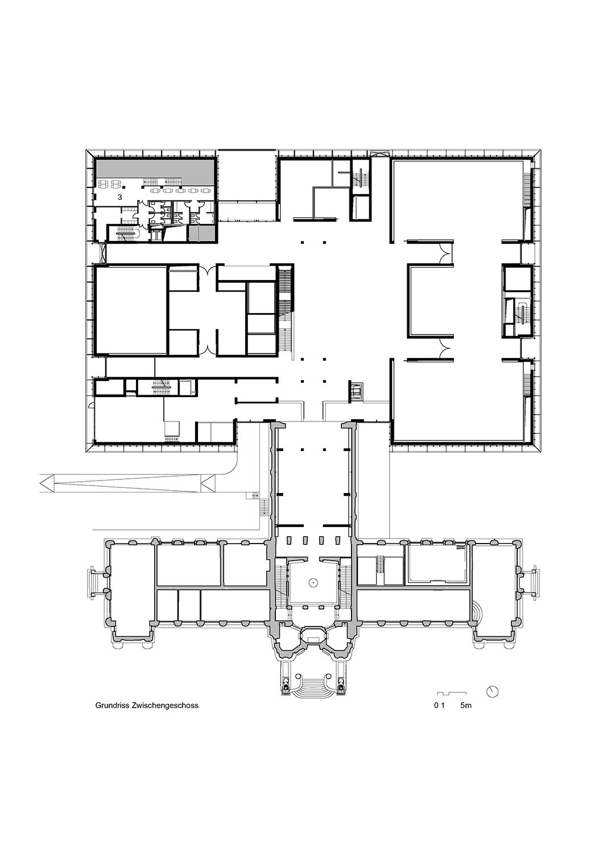 Mezzanine floor © gmp Architects}