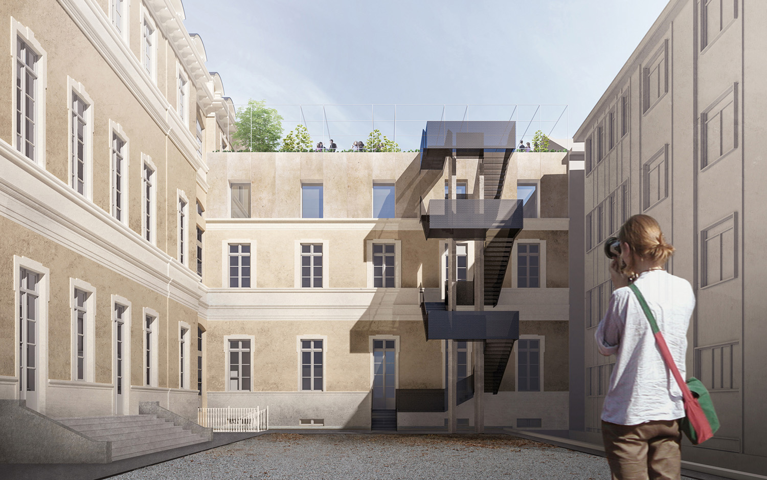Back side elevation/courtyard Eugenio Chironna
