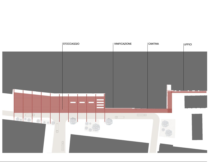 planimetria pensilina  Westway Architects}