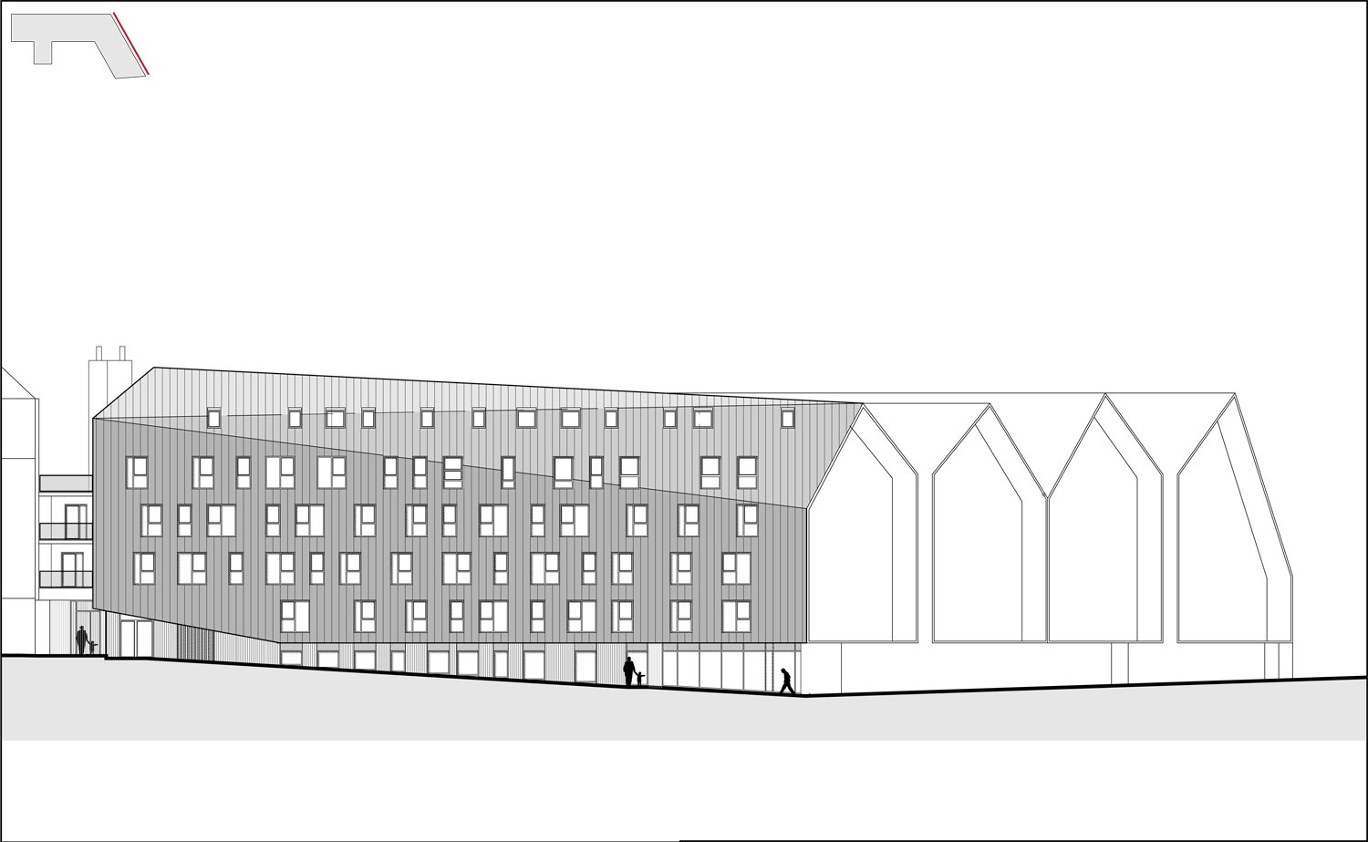 Nord East Elevation © Groupe-6}