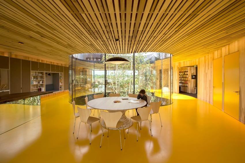 The kitchen table is the heart of the centre. Alex de Rijke