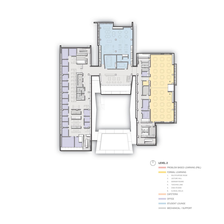 Level 2 Floor Plan © Skidmore, Owings & Merrill}
