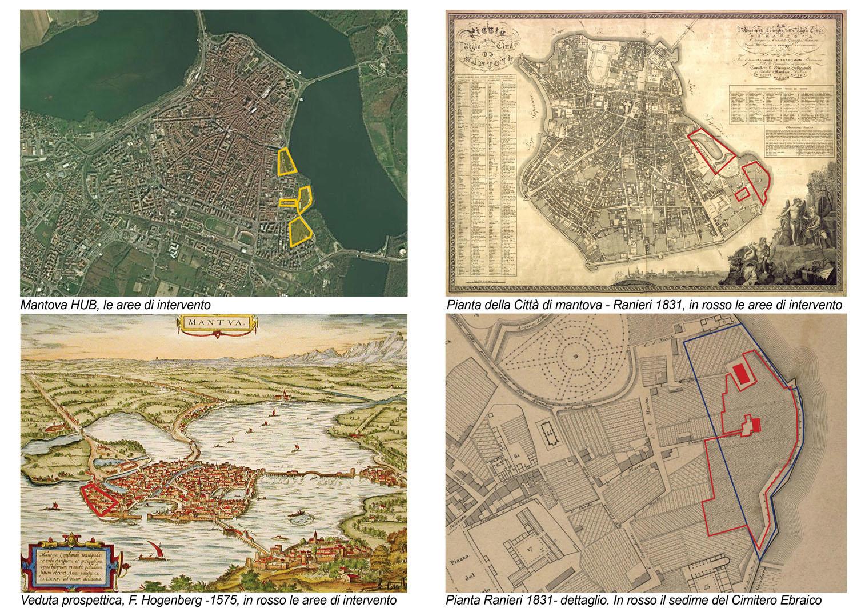 Mantova HUB - Inquadramento urbanistico e Cartografia Storica Archivio Corvino + Multari 2017