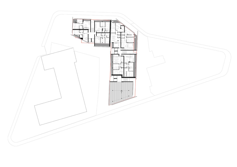 piano quinto e sesto-appartamenti standard ed uffici }